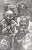 Random grey white sketching by RayDillon