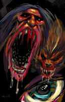 Big Mouth Monster Werewolf by RayDillon