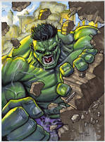 Hulk Smash Commission by RayDillon