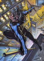 Nightwing Commission Colors by RayDillon
