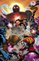 X-men vs. Sentinel inks+colors by RayDillon