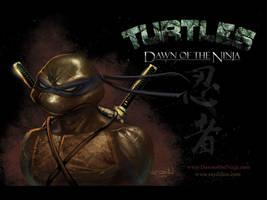 Leonardo TMNT Wallpaper by RayDillon