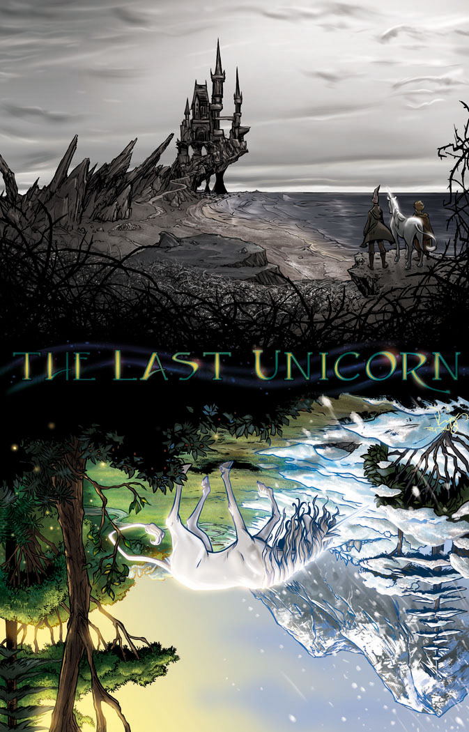 the last unicorn cover 1 flip by raydillon on deviantart