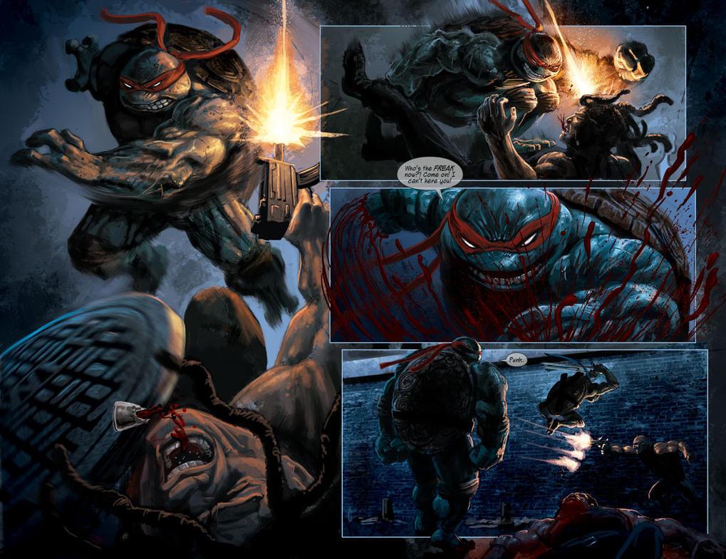 TURTLES: Dawn of the Ninja: TMNT RAPH FIGHT SCENE! by RayDillon