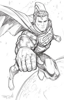 SUPERMAN: THE MAN OF STEEL - Warm-up sketch
