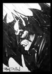 BATMAN Sketch Card for sale! by RayDillon