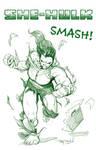 SHE-HULK SMASH! by RayDillon