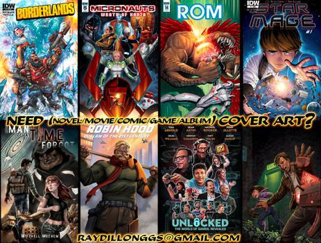 Need a Cover Artist? Movies, Games, Novels, Comics