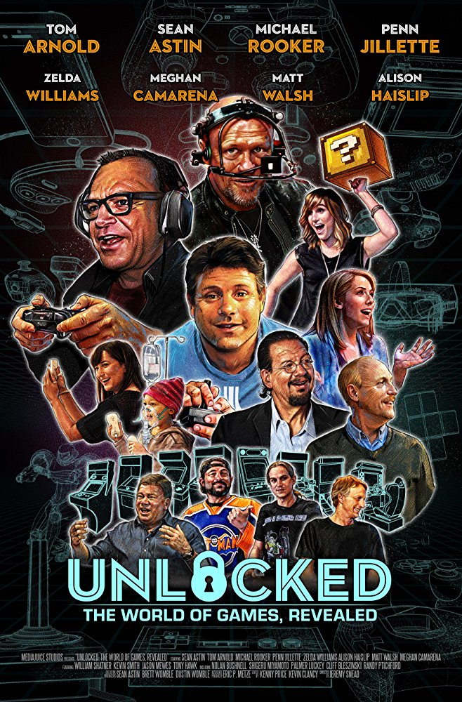 My painted cover for UNLOCKED, video game tv show by RayDillon