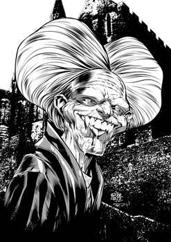 Dracula by Roger Cruz, inked by me.