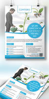 Clean Corporate flyer by nnuddin