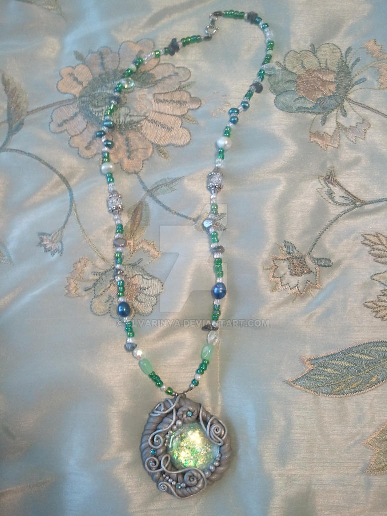 Green Sea Swirl by Elvarinya