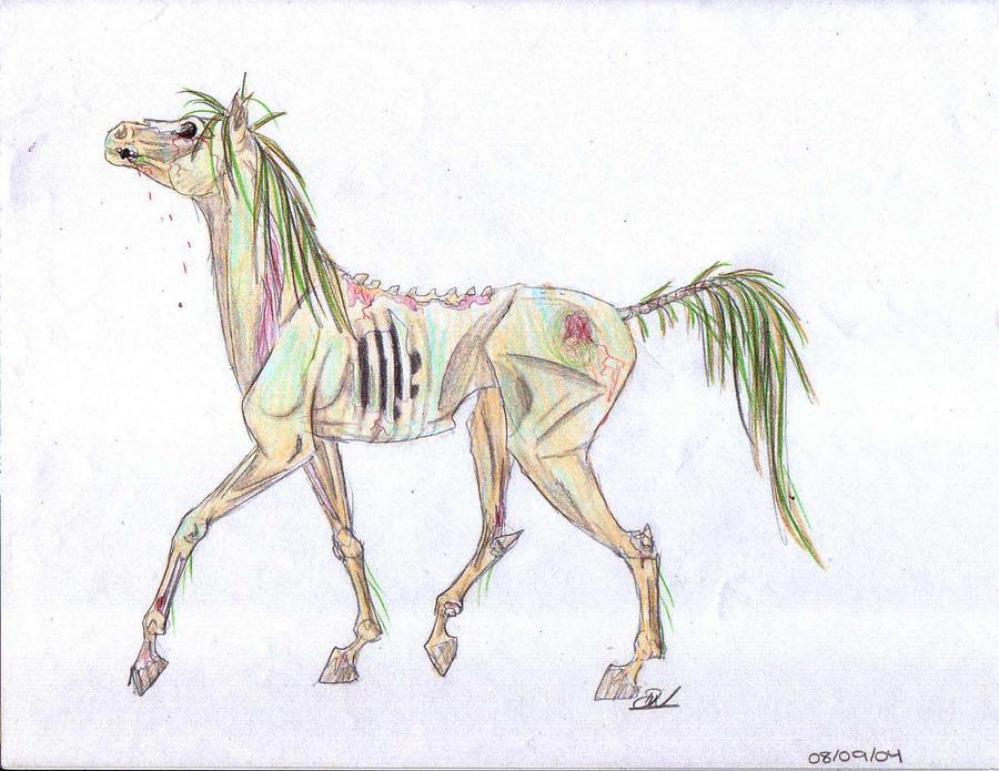 Zombie Horse by xlostxinxdreamsx on DeviantArt