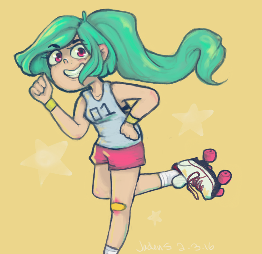 Roller Girl by Xeololo