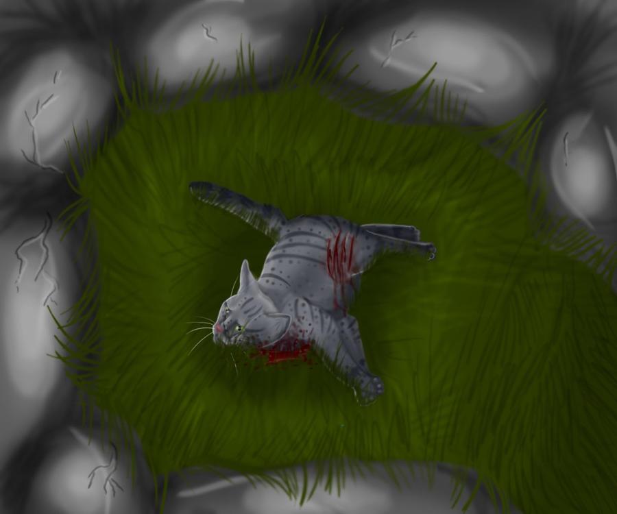 Brindleface death by Selenafunnywolf