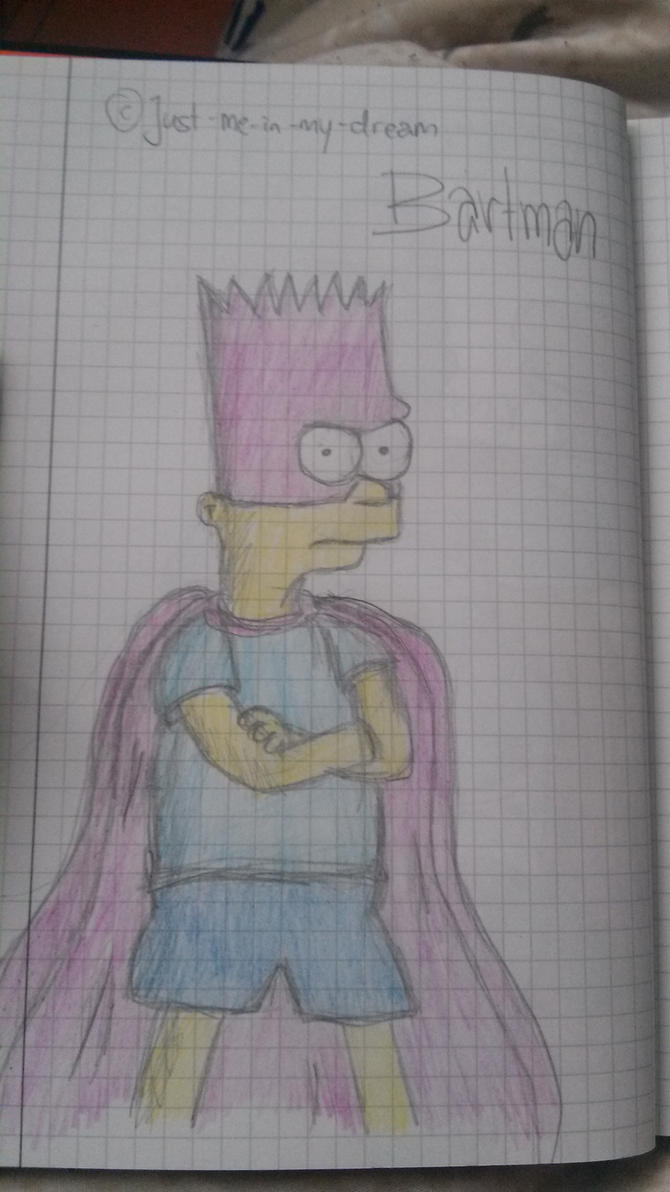 Bartman alias Bart Simpson1 by Just-me-in-my-dream