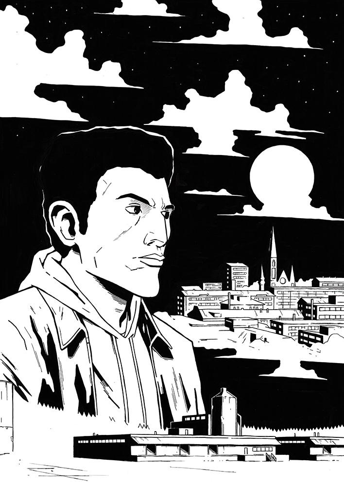 Karim promo comic cover by AnttiKosonen