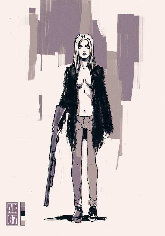 Girl with a shotgun by AnttiKosonen