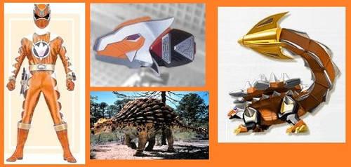 Orange Dino Thunder Ranger