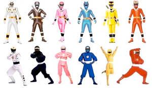 Mighty Morphin Ninjetti Rangers in Both Modes
