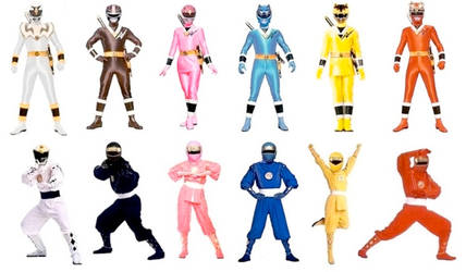 Mighty Morphin Ninjetti Rangers in Both Modes by Greencosmos80