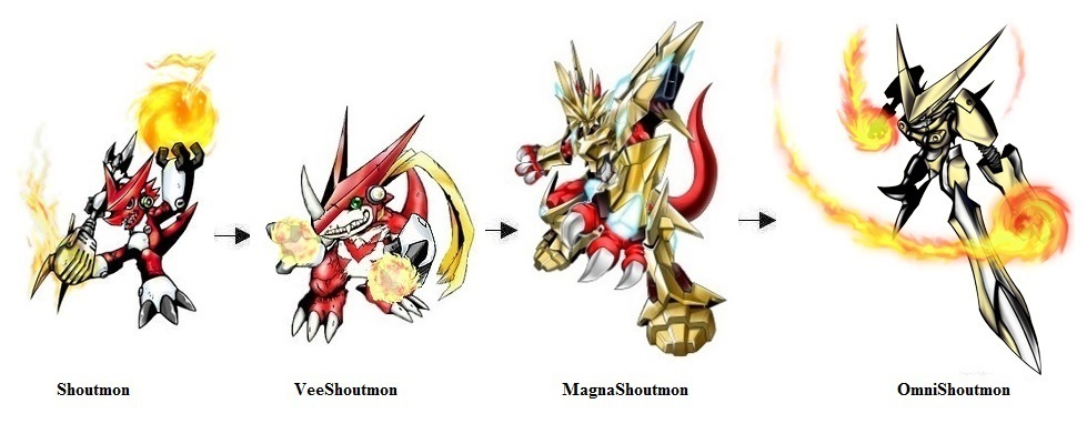 Shoutmon Fan Evolution line by Greencosmos80 on DeviantArt