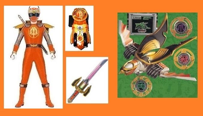 Ninja Storm Orange Ronin Ranger for Maklos by ...