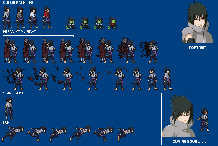 Susanoo Sprite: Uchiha Sasuke Ems Nzc Progress Preview By ShinobiKingdom