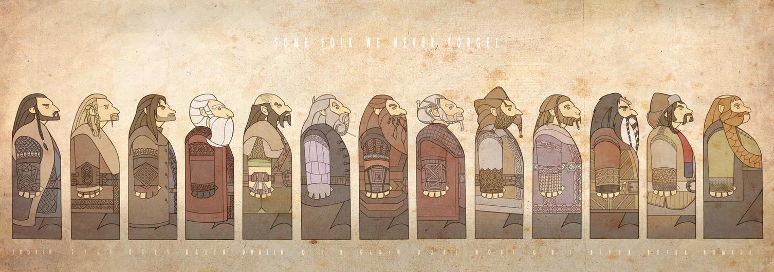 Thirteen Dwarves by mustamirri