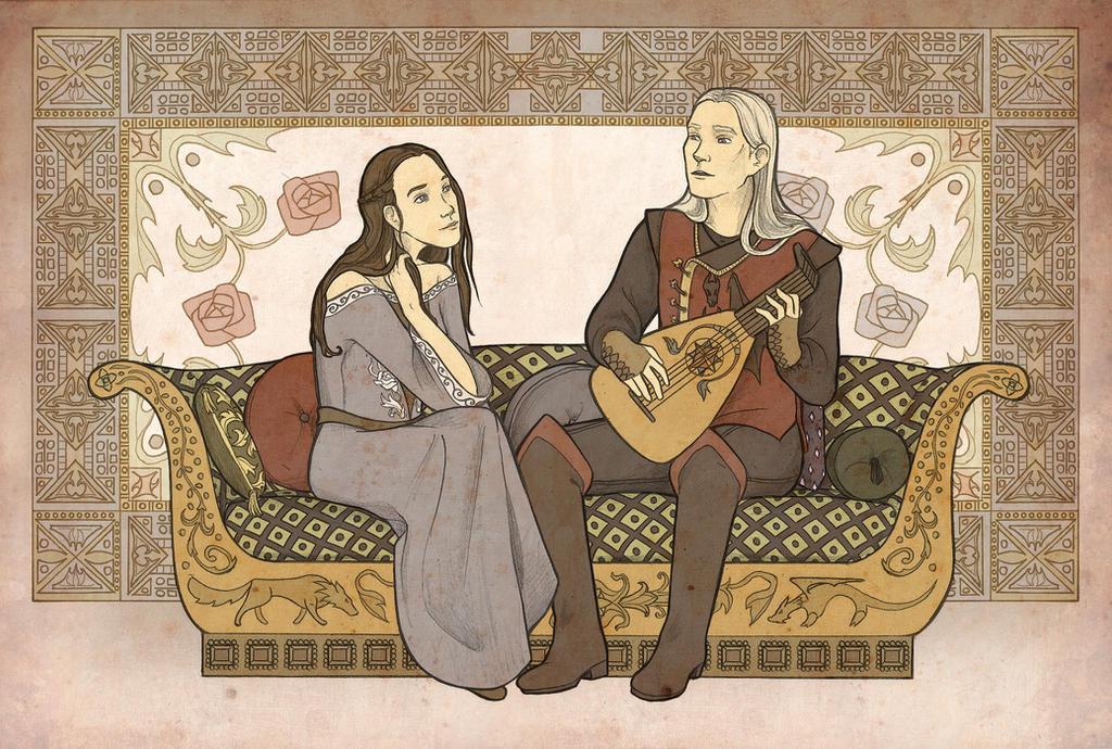 Lyanna and Rhaegar by mustamirri