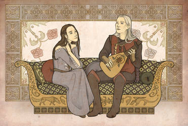Lyanna and Rhaegar by mustamirri