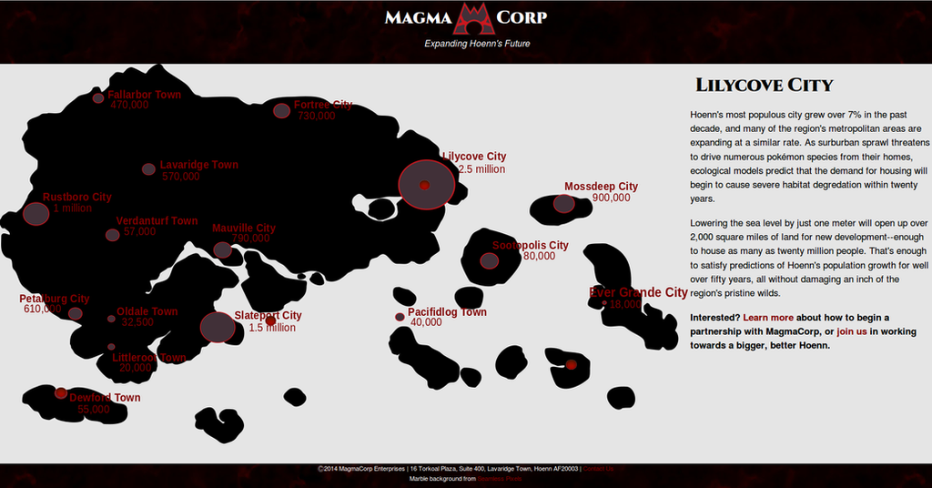 MagmaCorp's Corporate Webpage by negrek