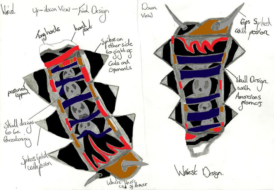 Final Design: Wrist Gaurds by xxxBrokenSoulxxx