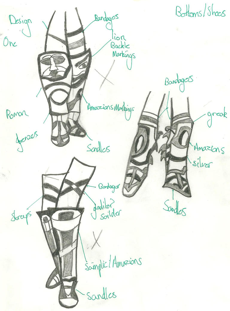 Gladitor Shoes: Designs by xxxBrokenSoulxxx