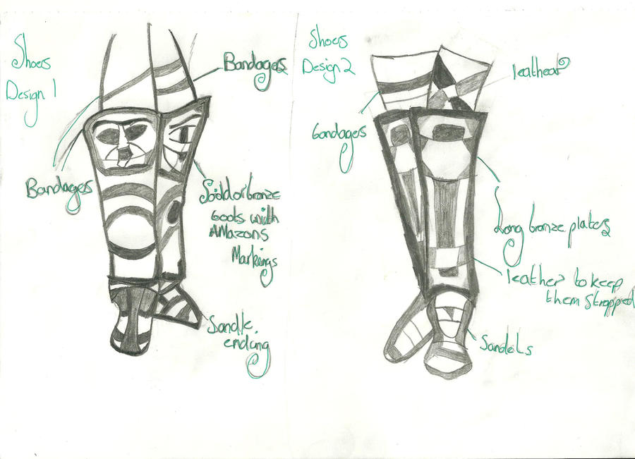 Gladitor Boots: Final Design by xxxBrokenSoulxxx