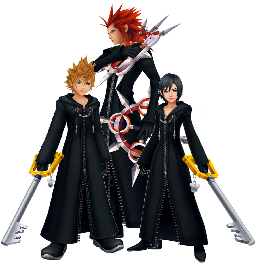 Xion Kingdom Hearts: Axel, Xion, And Roxas By Autocon-Femme On DeviantArt