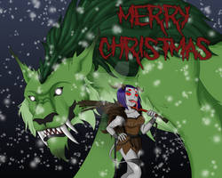 Lady Krampus and The Yule Cat