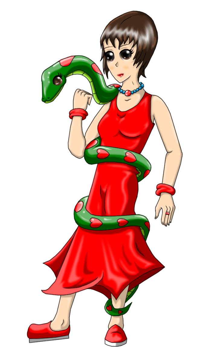 Bianca G And Dominica The Snake by Xaidon