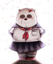 Japanese schoolgirl Panda by ToraGoru
