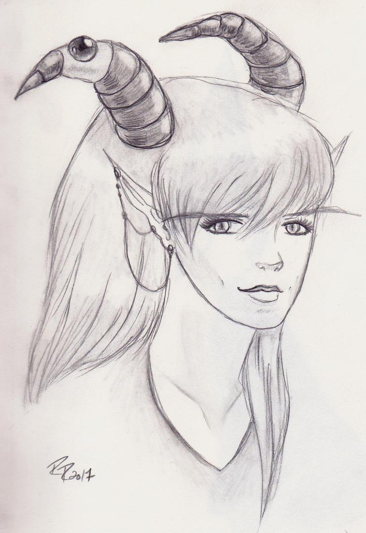 Sketchbook - Demon by ruka-2990