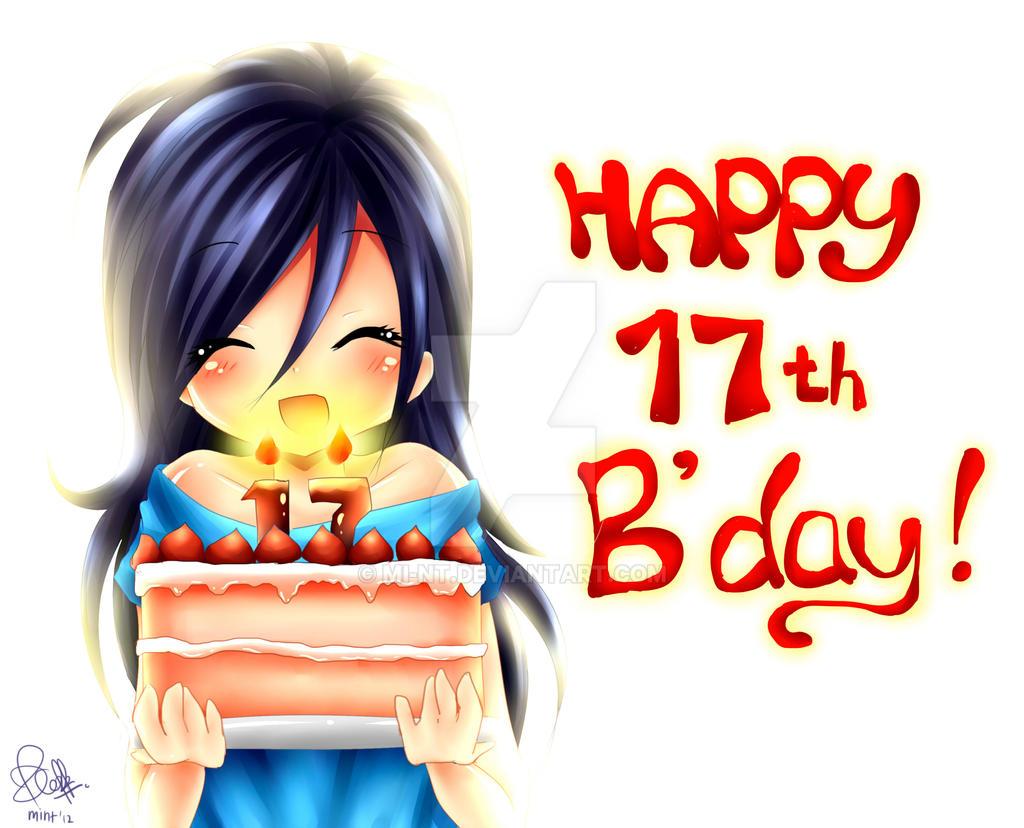 Поздравление с днём рождения в аниме стиле 9
