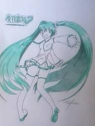 Hatsune Miku ( WIP ) by TafnesDias