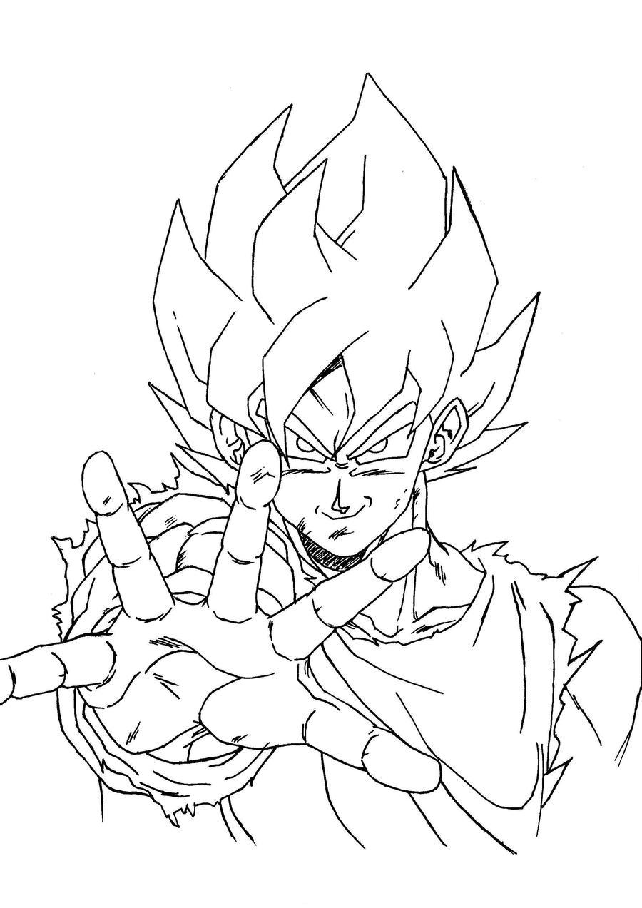 Goku super saiyan kamehame by sup3rsay4ngirl on deviantart for Goku super saiyan 5 coloring pages