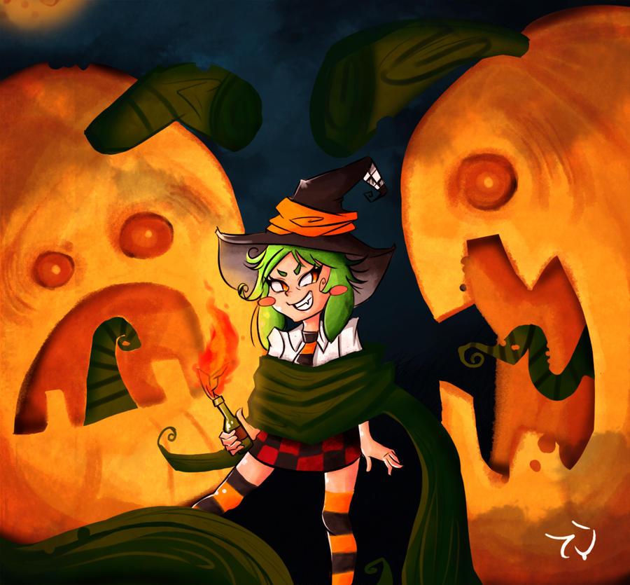 happy halloween by kalix C: by demonbp