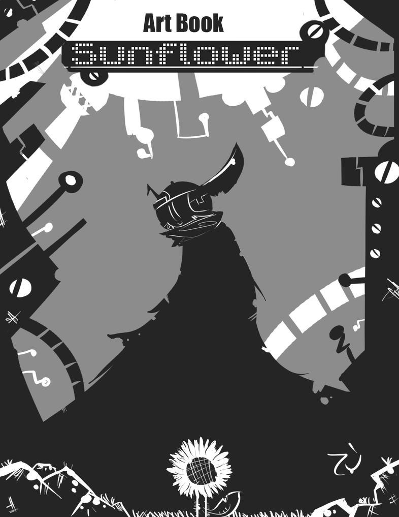 Sunflower art book cover by demonbp