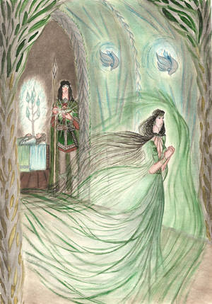 Melian leaving Doriath by Murrauddin