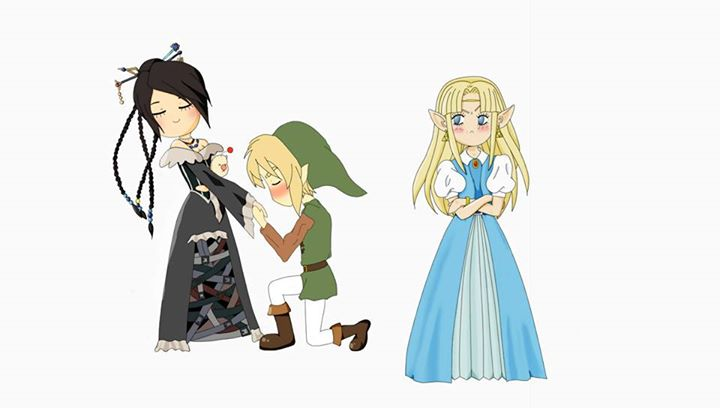 Lulu and Link and Zelda by idnerine