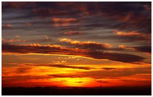 Melbourne Sunsets XII by Kerridwyn