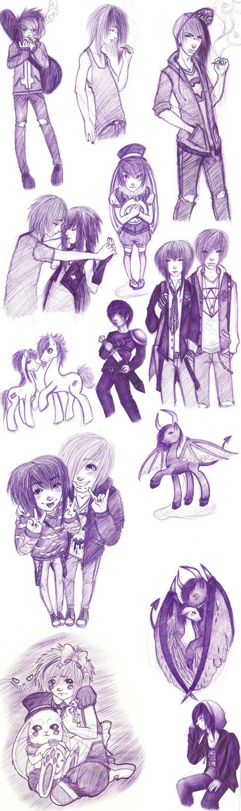 some sketches by SakiHanako