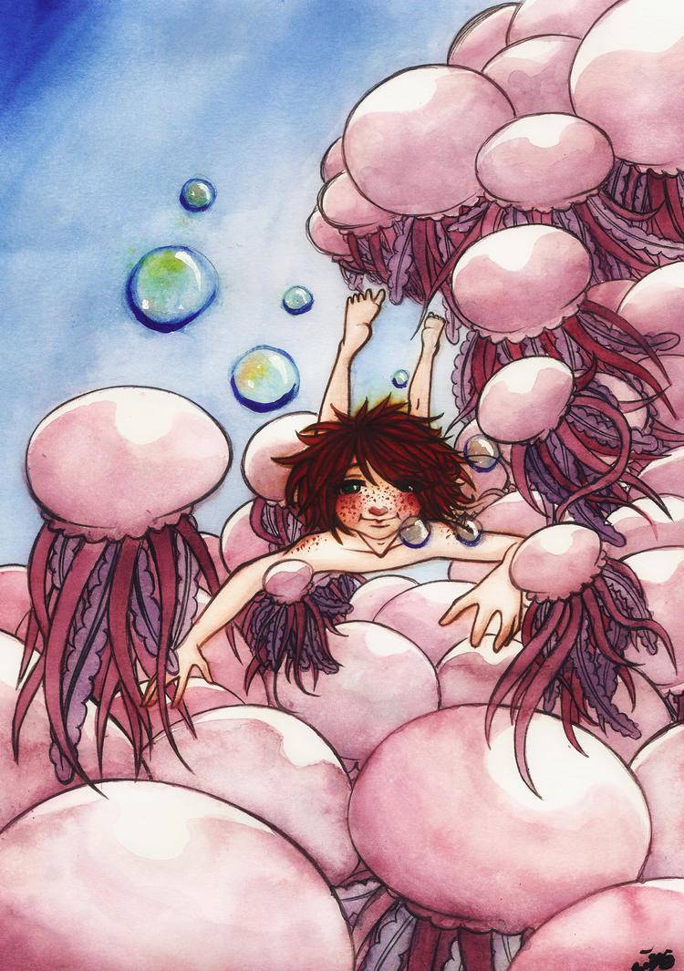 jellyfishes by SakiHanako